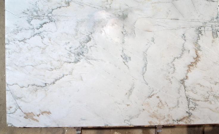 """Calacatta Quartzite Slab AKA The vein cut version is called """"Macaubus White"""""""