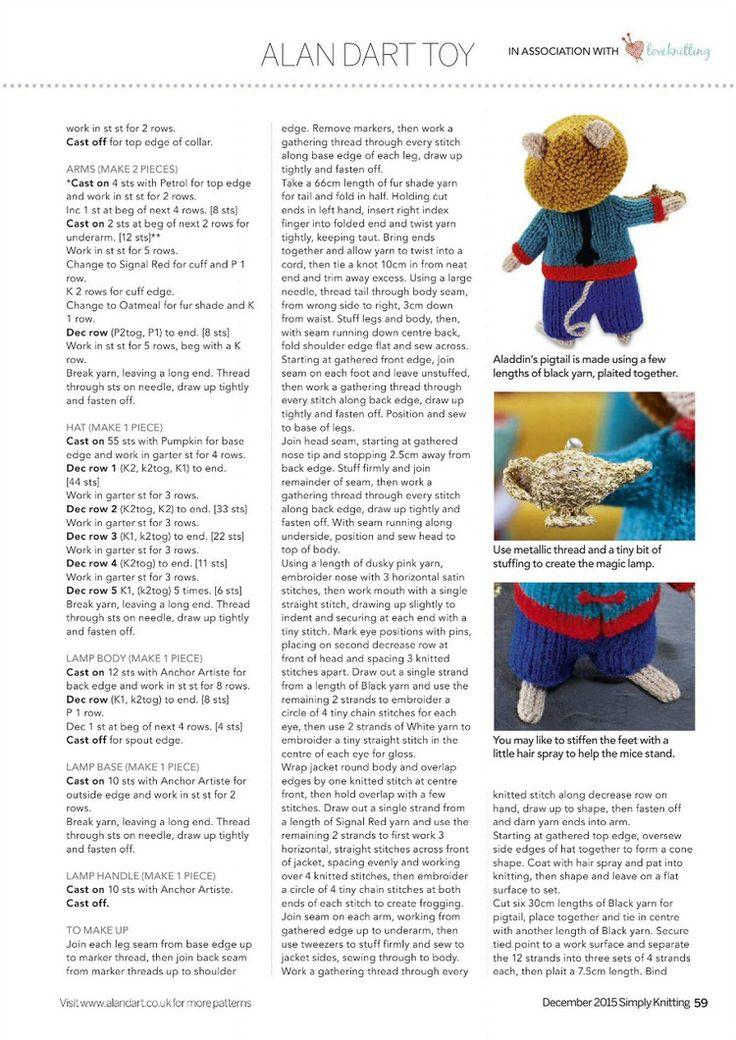 Knitting Toys Magazine : Simply knitting issue  轻描淡写 crochet