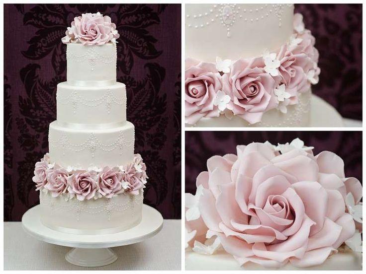Torte nuziali rosa, le proposte più belle - Torta rosa cipria