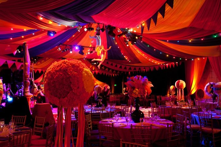 Night Circus Gala Table Centerpieces Google Search