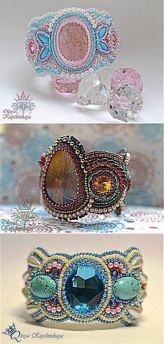 Вышитые браслеты (Много фото) | biser.info - всё о бисере и бисерном творчестве