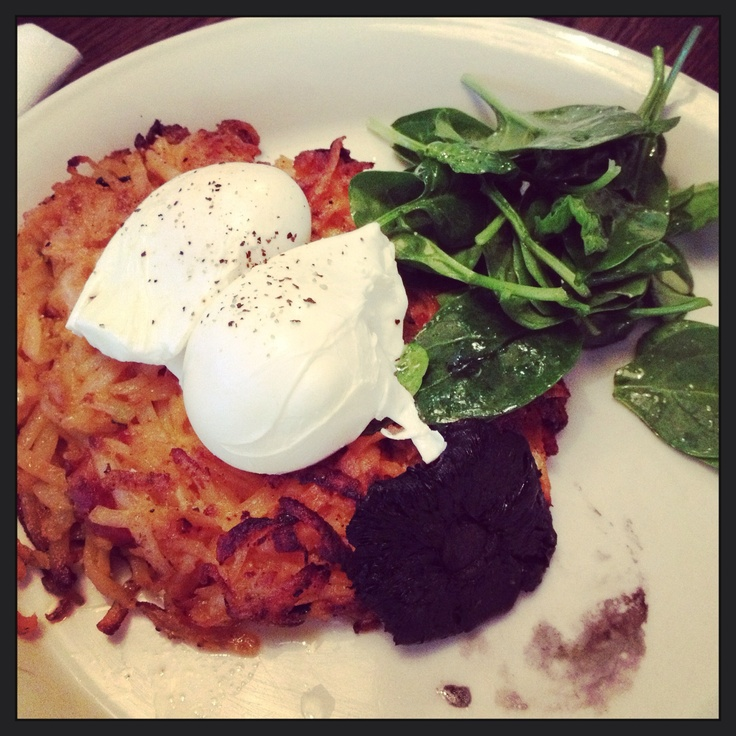 Chorizo hash browns - Riding House Cafe,London: Hash Brown