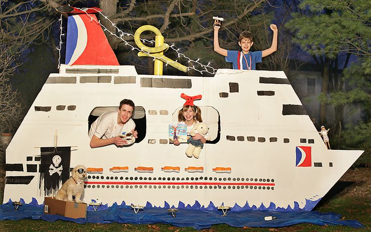 cruise ship out of cardboard | Carrie Duwelius of Naperville, Ill., Named Winner of Carnival's ...