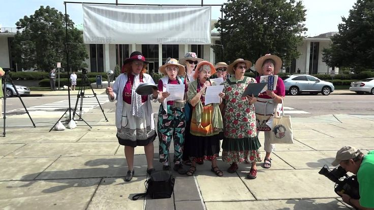 "Raging Grannies sing to ""welcome"" NC Legislature into session"