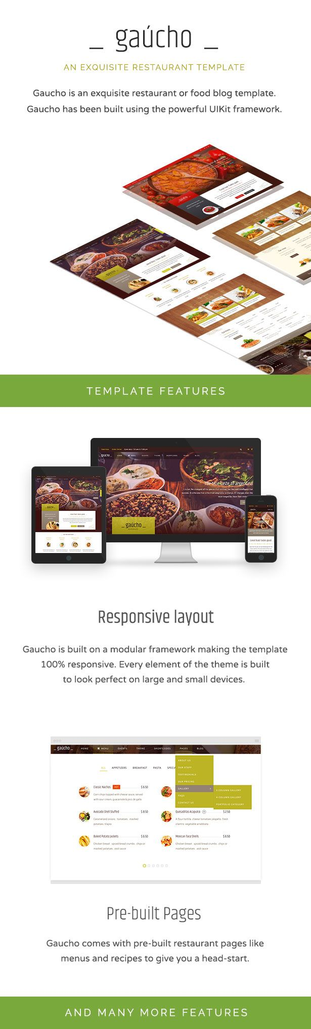 Restaurant and cafe templates are hard to find especially good ones and that's why we designed Gaucho – an exquisite cafe, food blog and restaurant Joomla template built with a unique design and great aesthetics. #food #blog #design #ideas #theme #joomla