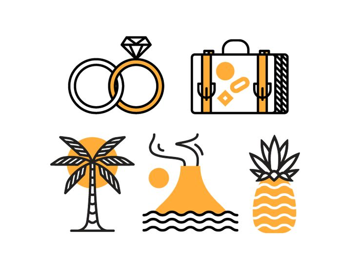 Wedding Icons by Nick Slater #Design Popular #Dribbble #shots