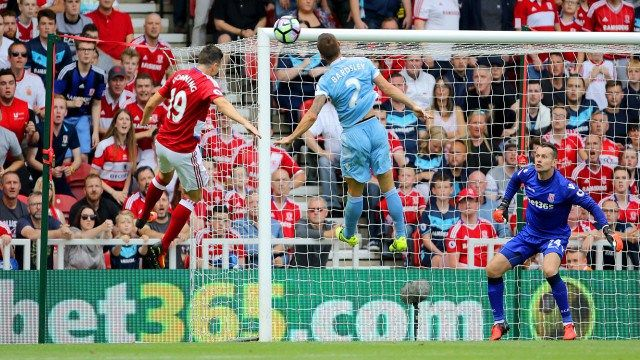 Highlight Pertandingan Middlesbrough 1 - 1 Stoke ( Premier League Pekan 1 )