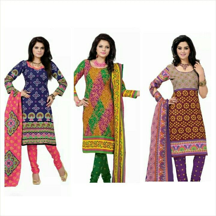 Deal of the day: Bandhani print dress materials at flat 799 http://www.themagicalthread.com/products-page/suits