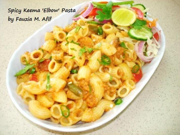 Spicy Keema Elbow Pasta Fauzias Kitchen Fun