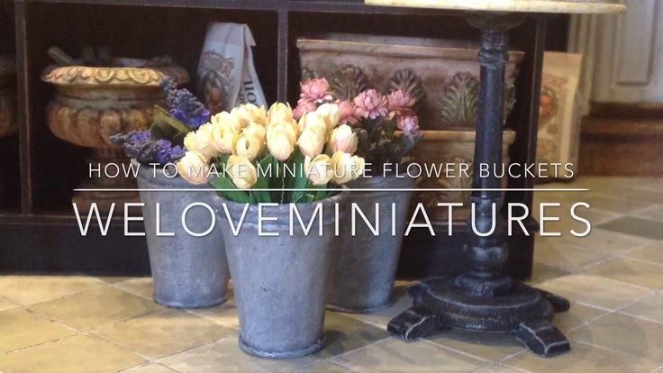 How to make miniature flower buckets by Annie Fryd Christensen