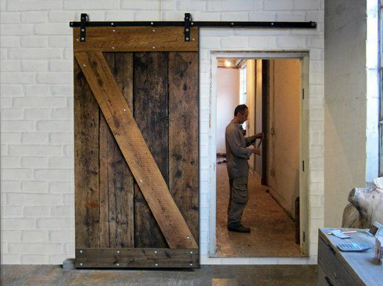 www.loftdoors.com  rustic sliding wood door
