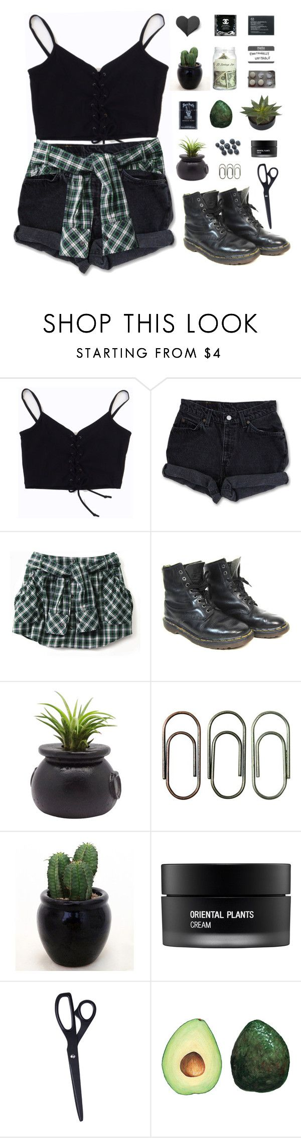 """"""" Here i am just drownin' in the rain, with a ticket for a runaway train. """" by centurythe ❤ liked on Polyvore featuring Levi's, Dr. Martens, Dot & Bo, Tim Holtz, Koh Gen Do, HAY, The Body Shop and blues5k8daychallenge"""