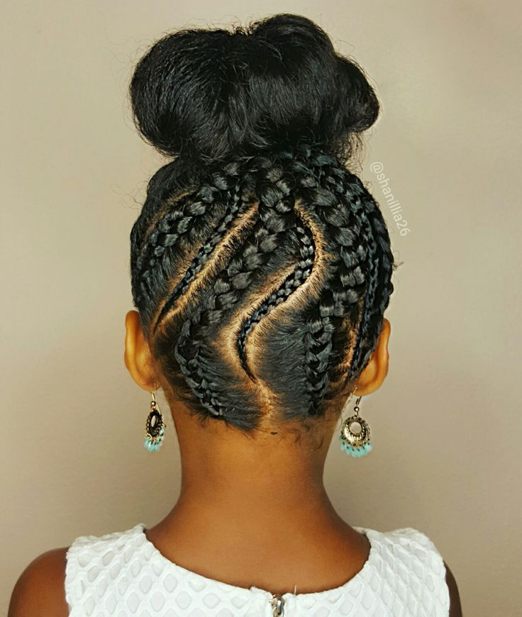Braided updo- Natural hairstyles for kids…