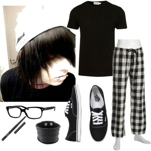 Emo Boy Pjs Grungy Clothes Pinterest Boys Emo And