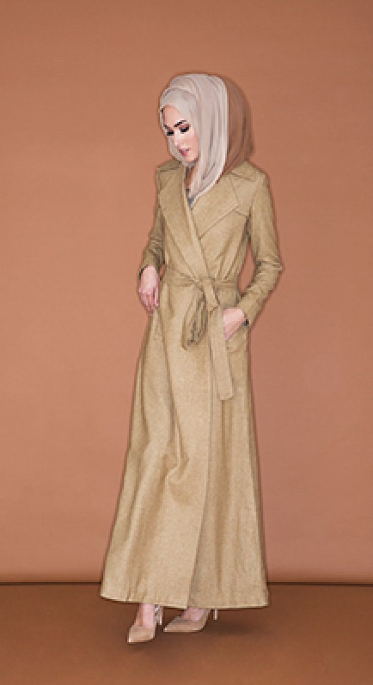 Long Wrap Coat - Camel | Aab