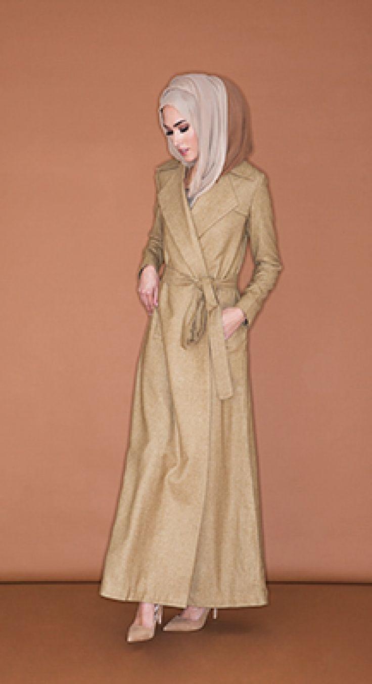 Long Wrap Coat - Camel | Aab