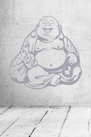 #Wandtattoo lachender #Buddha