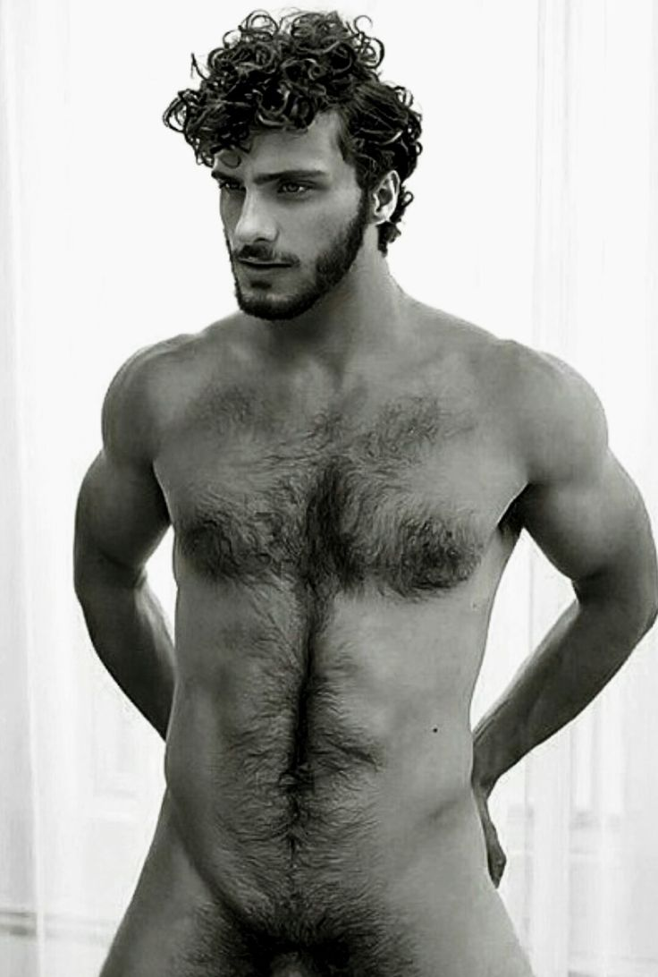 Group curly haired guys nude