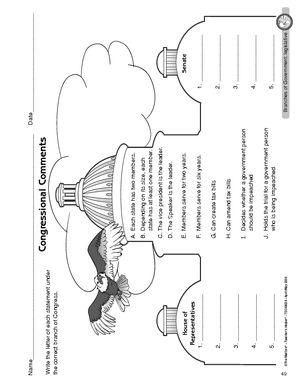Worksheet Legislative Branch Of Government Has More Worksheets Too