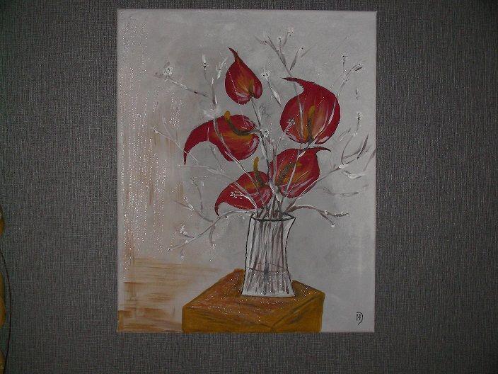 89 best la peinture et moi images on pinterest for Bouquet exotique