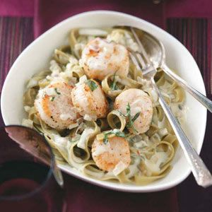 Scallops in Sage Cream Recipe from Taste of Home -- shared by Joan Churchill of Dover, New Hampshire