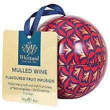 Buy Whittard Mulled Wine Tea Bauble, 40g Online at johnlewis.com