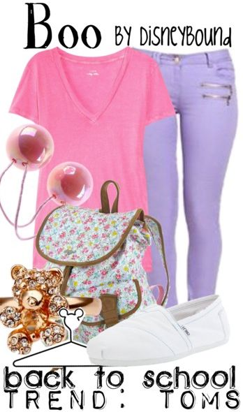 For a long day of park hopping, you need to be comfortable, wear good shoes, and have a great bag for all your stuff! | Boo Outfit | | Disney Fashion | Disney Fashion Outfits | Disney Outfits | Disney Outfits Ideas | Disneybound Outfits | Monsters Inc. Outfit |