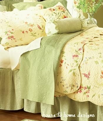 Priscilla Country Yellow Quilt