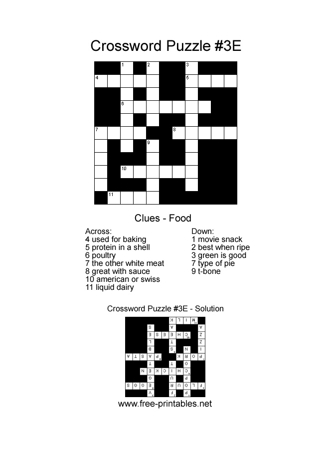 easy printable crossword easy crosswords free easy crossword ...