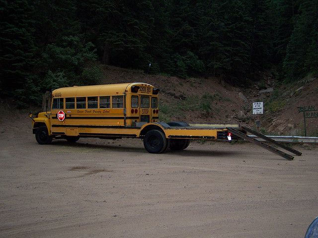 Too Kewl For Skool? Modified School Bus = Camper / Jeep Hauler - How much more perfect can you get?