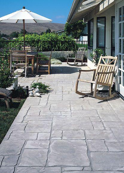 Backyard Patio Concrete Natural Stone Pattern