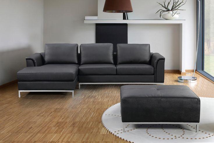 VELAGO - OLLON Leather Sectional Sofa (R)