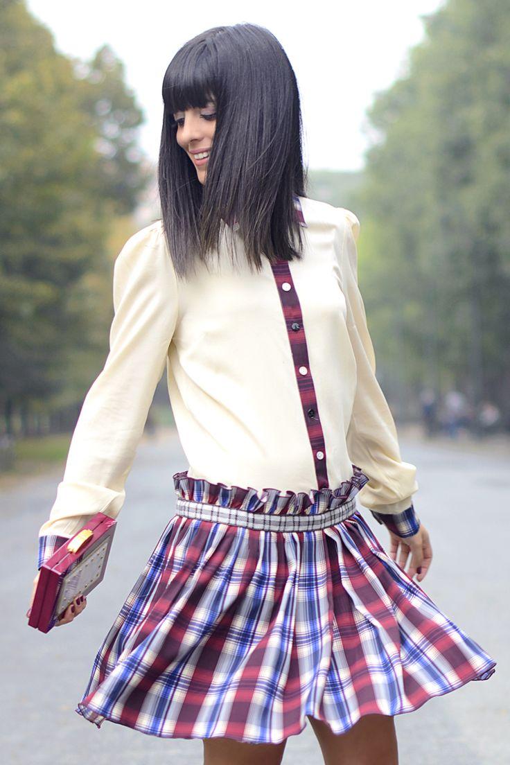 Vestito #tartan: tendenza autunno inverno 2015!    Tartan dress: #trend of fall winter 2015! #ootd #style #streetstyle #outfit #lauracomolli #pursesandi