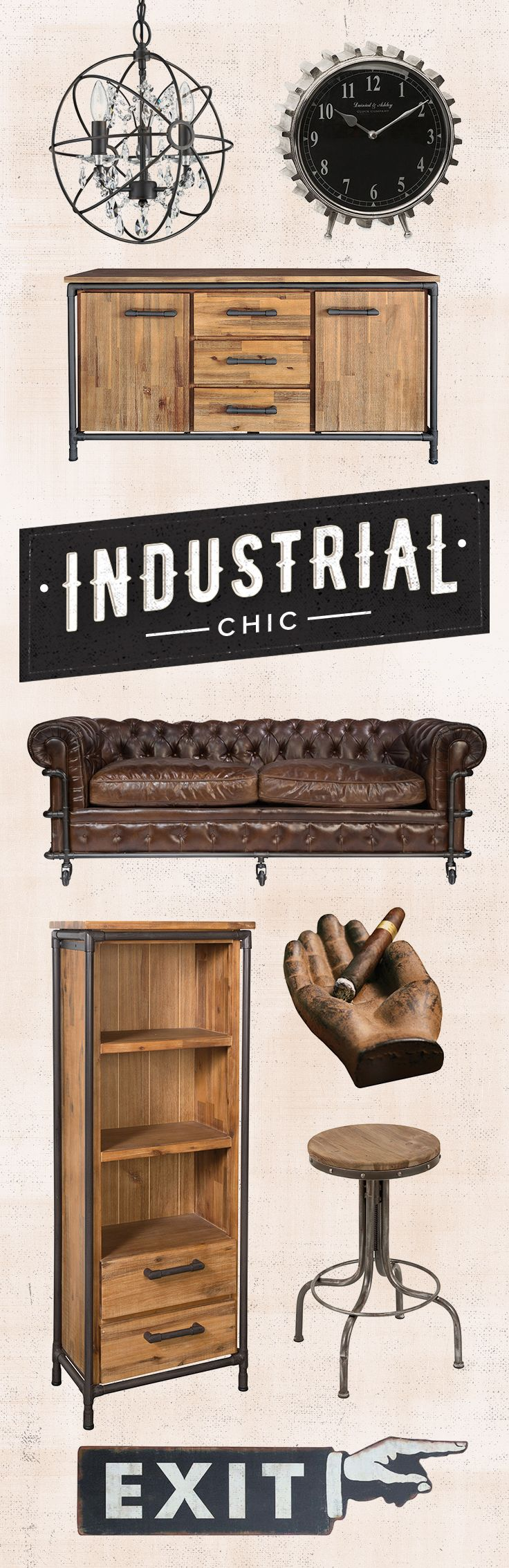 There's always something new to discover. Shop Industrial Chic style and more at Dot & Bo and explore our hand-picked, curated furniture collections. Shop Now at dotandbo.com!