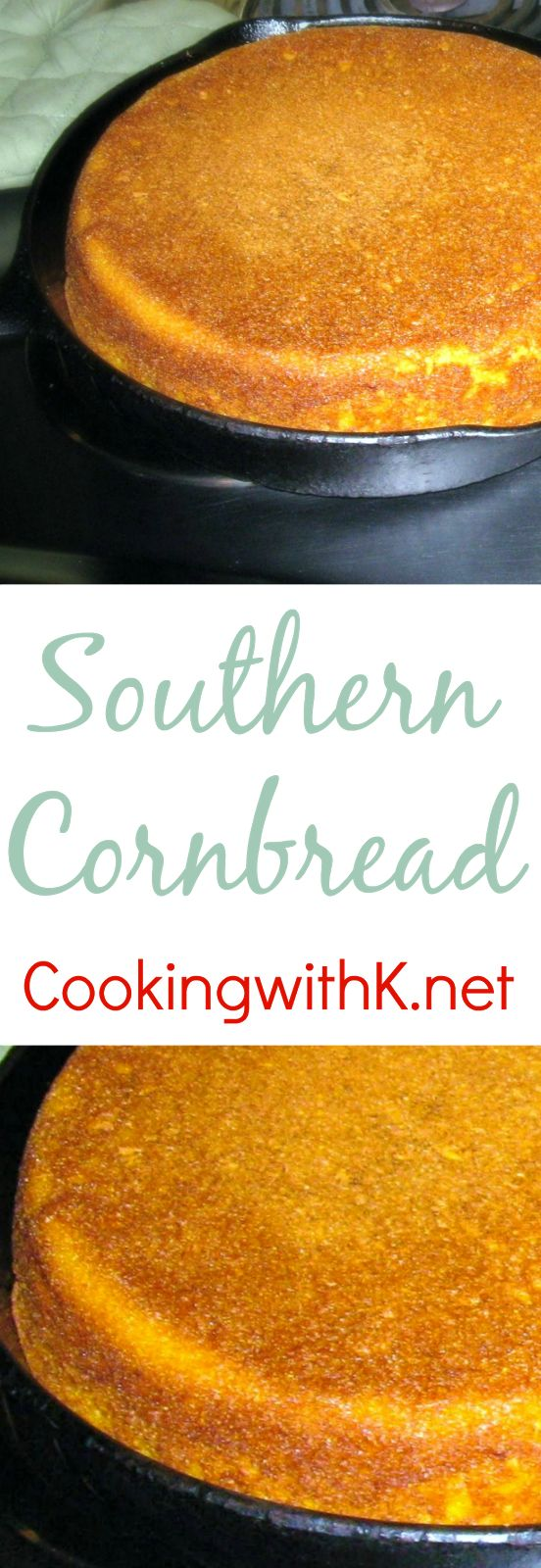 Classic Southern Cornbread, iconic bread of the South that has graced tables for…
