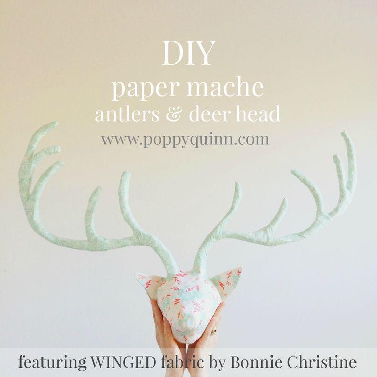 Best 25+ Paper mache deer head ideas on Pinterest | Cardboard deer heads, Papier mache and Paper ...