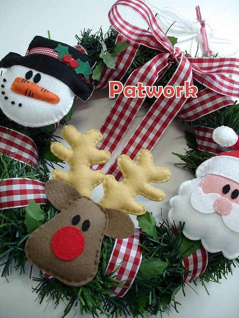 Christmas wreath, felt idea