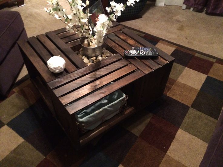 Coffee table made from apple crates crafts for my for How to make apple crates