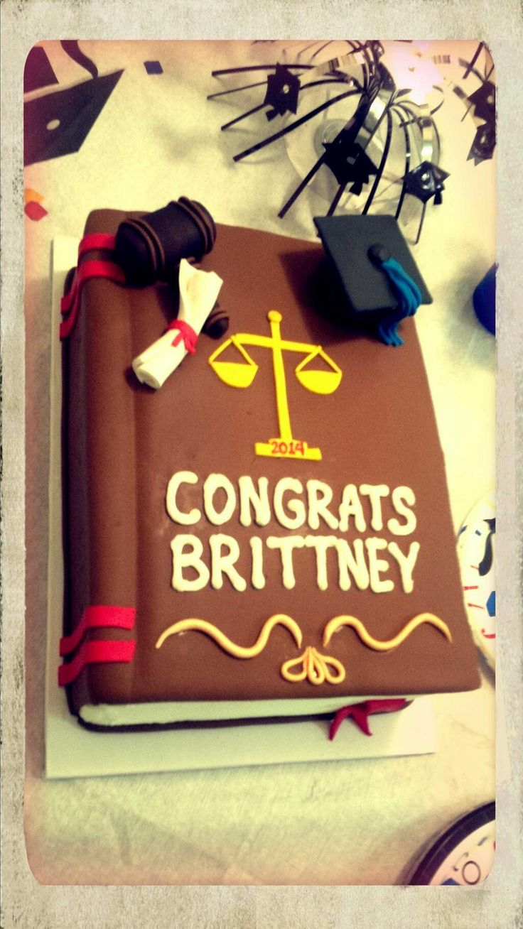 Law School Graduation Cake!