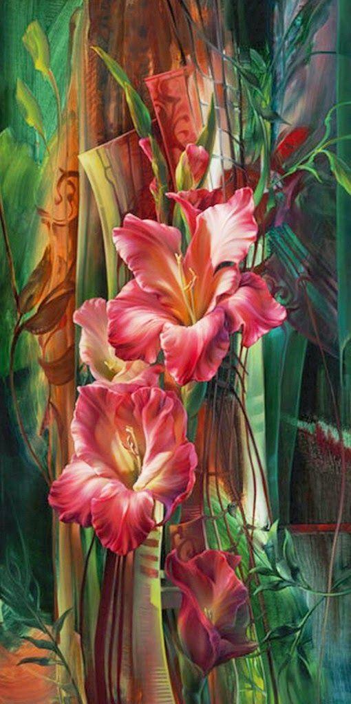 Pinturas al oleo de flores en cuadros modernos pintura for Cuadros de oleo modernos
