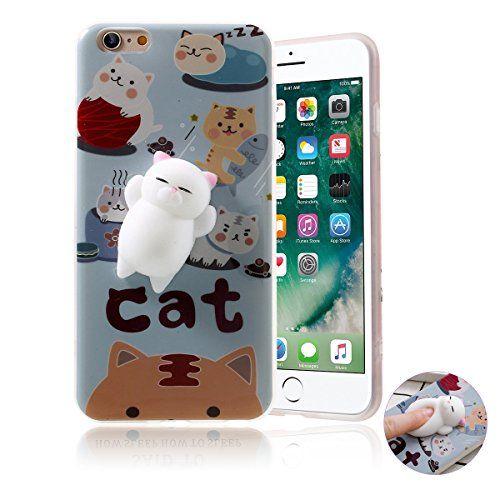 Funda iPhone 6/6s ,Haobuy Cute Squishy 3D Gato Slow Rising Squeeze Cat TPU Carcasa Case Cover para Apple iPhone 6/6s 4.7inch [Azul Gato]: Amazon.es: Electrónica