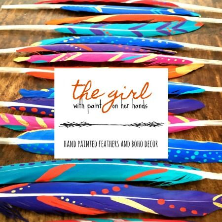 Brand new website - full of gorgeous hand painted feathers and boho style!  #bohostyle #paintedfeathers