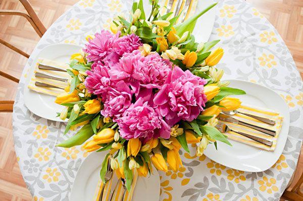 Pink & Yellow Flower Arrangement