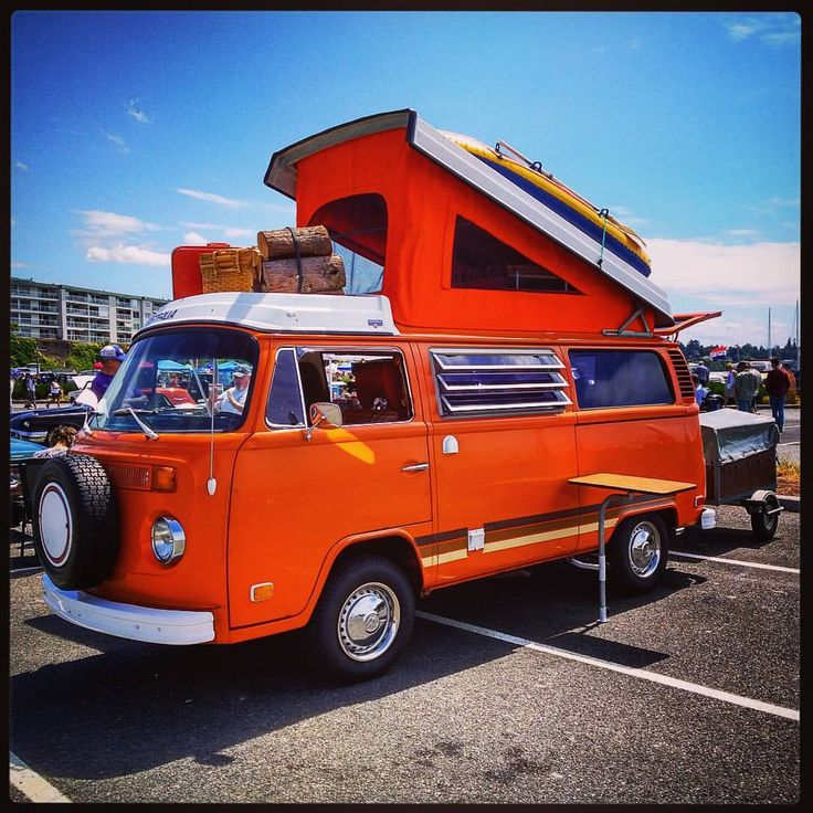 """41 Likes, 1 Comments - Matthew E Wanamaker (@modmokkamatti) on Instagram: """"A 1974 Volkswagen Westfalia camper, fully equipped with accessories - on display at the 2017 Wheels…"""""""
