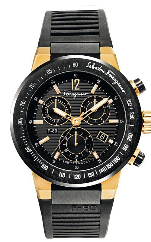 F-80 Rose Gold-Plated Watch F55LCQ75909S113, 44mm