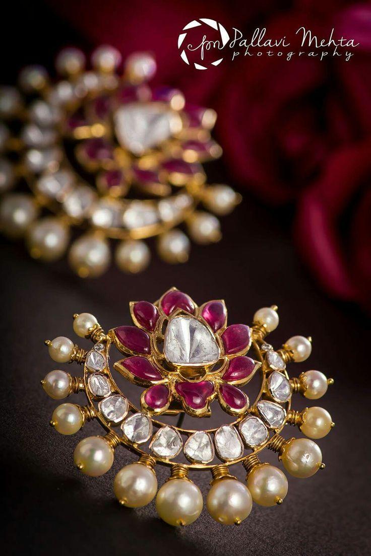 Vintage pearl drop gold earrings bocheron pearl earrings gold - Sagar Jewellers
