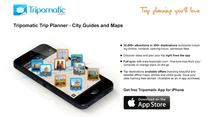 Tripomatic for iPhone 2.0 is out! Now with 30.000+ attractions in over 300 destinations and offline maps with guides. Get it now from the App Store: http://goo.gl/7O5l7