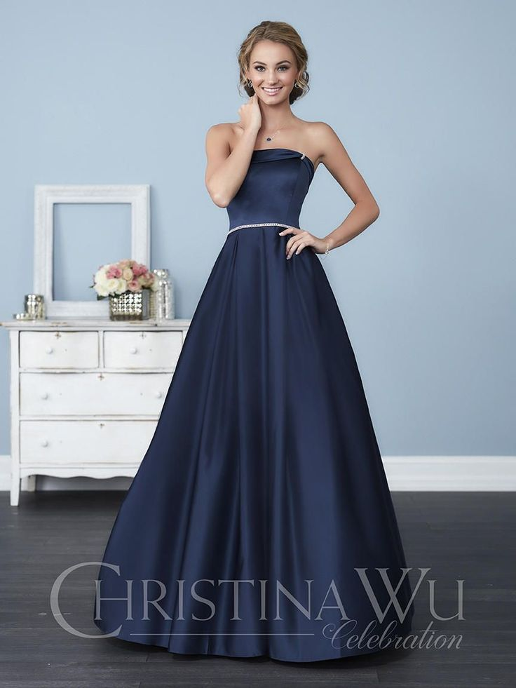 Check out the deal on Christina Wu Celebration 22772 Satin Bridesmaid Gown at French Novelty