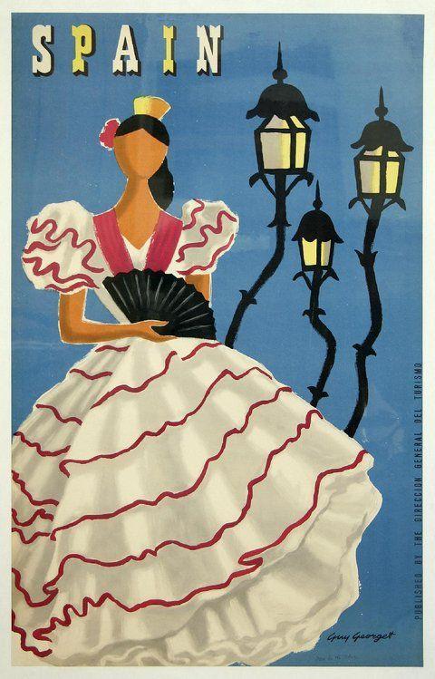 Spain _________________________ #Vintage #Travel #Poster
