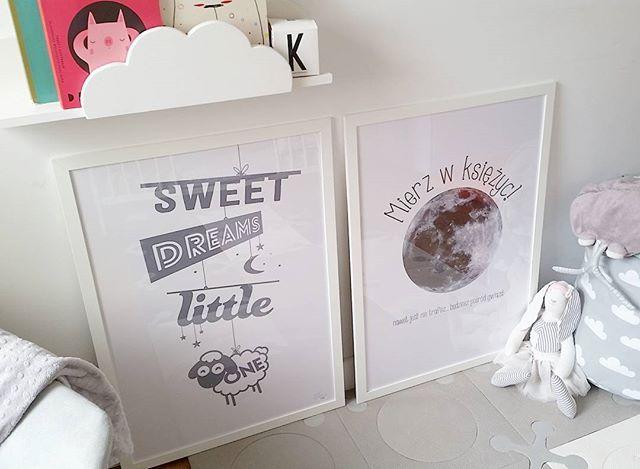 kids room decoration idea #moonposter #plakatzksiężycem #sweetdreams